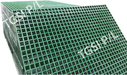 Industrial Frp Floor Gratings Low Maintenance