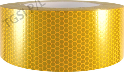 Red /& Yellow High Intensity Chequer Reflective Tape Self-Adhesive 50mm×1 Meter